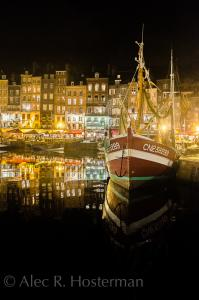 Fishing Village at Night - Honfleur, France